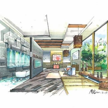 建晴设计套餐-室内手绘1【角美建晴建筑设计工作室|线上服务】