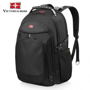 维士十字双肩包商务男士背包户外出差旅行大容量书包15.6寸电脑包