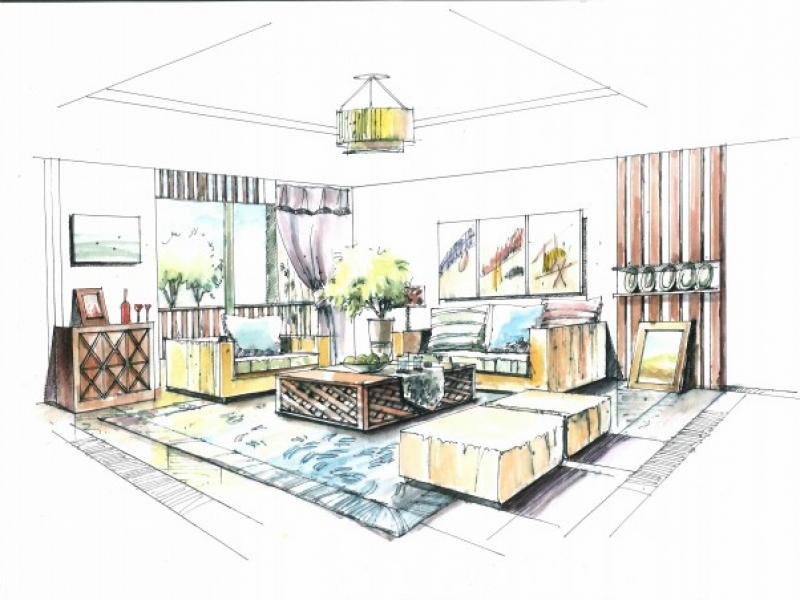 【卓笃设计工作室】景观室内外手绘,马克笔手绘,快题,家居服务>>建筑设计>>企业办公