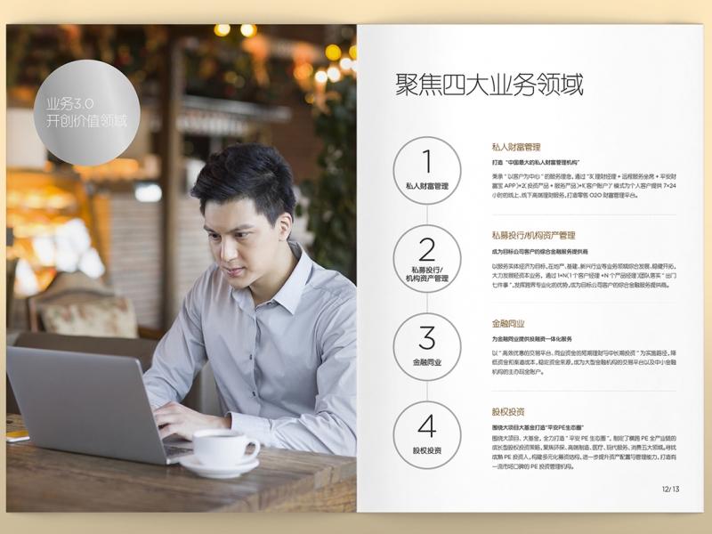 【立上创意设计】平安信托品牌画册设计和制作,设计服务>>画册设计>>画册印刷
