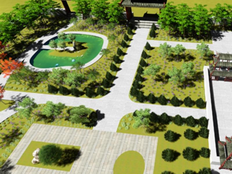 【九天艺术】园林景观效果图等设计全套,家居服务>>建筑设计>>园林设计
