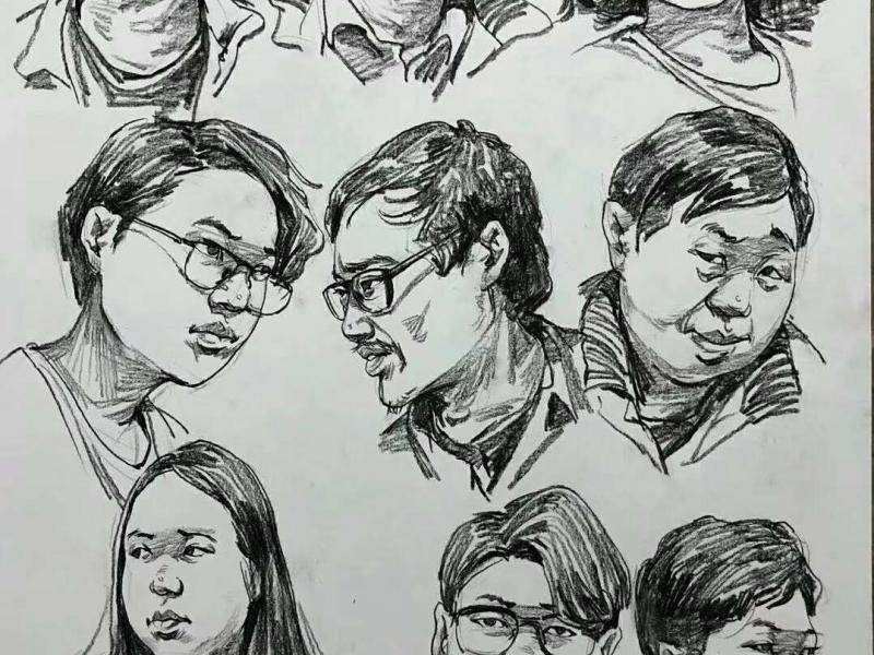 【宏娅艺术设计工作室】联考素描色彩速写人物画作定制美术基础三科,个性服务>>网络手绘>>画作