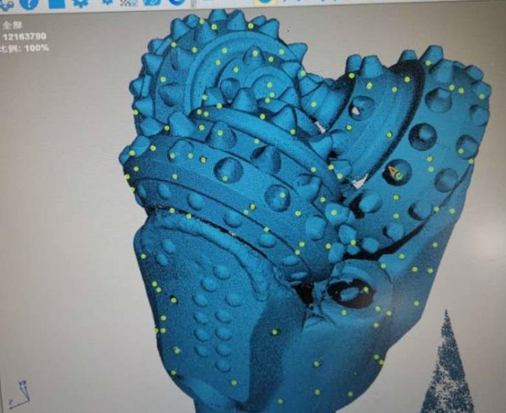 【三维扫描】牙轮钻头及金刚石钻头三维扫描及逆向设计