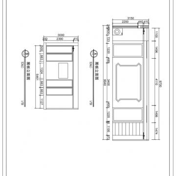室内CAD施工图,提供尺寸以及效果图可以马上接单。【翔锐电脑科技|线上服务】