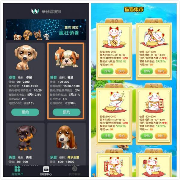 【软件开发定制】华登区块狗吉祥灵宠猫十二生肖星座宠物养成系统app源码开发