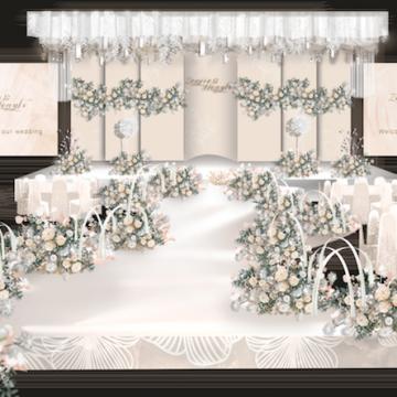 婚礼效果图设计,承接各种主题婚礼布置效果图【朱朱婚礼设计工作室|线上服务】