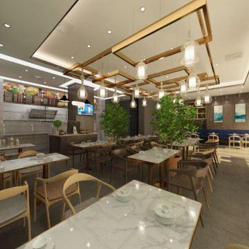 餐厅设计-效果图表现设计 CAD优化