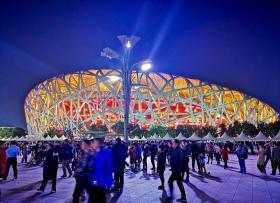【喵星人的世界】奥林匹克公园的夜,鸟巢水立方彩车阵,国庆长假这里最美
