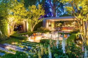 【梧桐林的猫女巫】庭院设计:一个高逼格阳光房,一个下沉休闲空间,美了这别墅花园