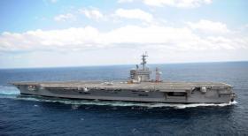 """【踏笛声过桥】艾森豪威尔(CVN 69)号航空母舰,海上高速""""飙车""""组图"""