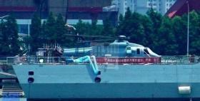 【野蛮不失女人心】直-20登上055驱逐舰!国际评论:我们没有看到中国硬复制的另一