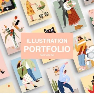 商业插画定制,海报包装设计,四格漫画,头像设计