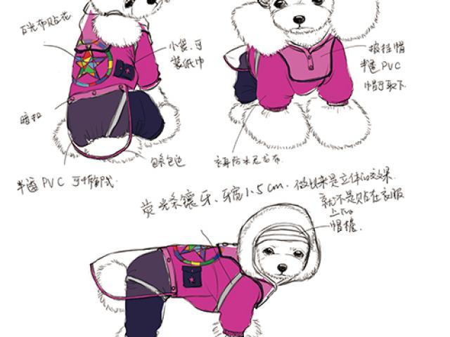 【牧羊人服饰设计工作室】宠物狗狗时装创意服装毛衣日常装设计,个性服务>>服饰定制>>宠物服饰