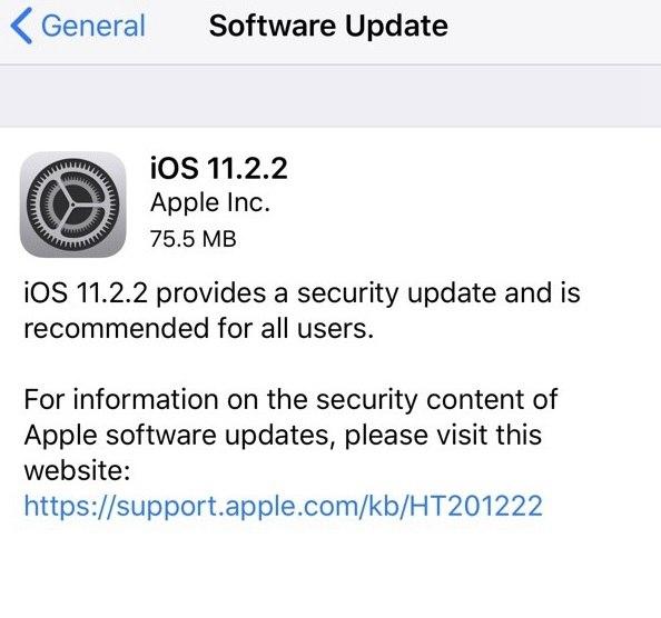 iOS11.2.2更新了什么_软件开发_企业管理软件