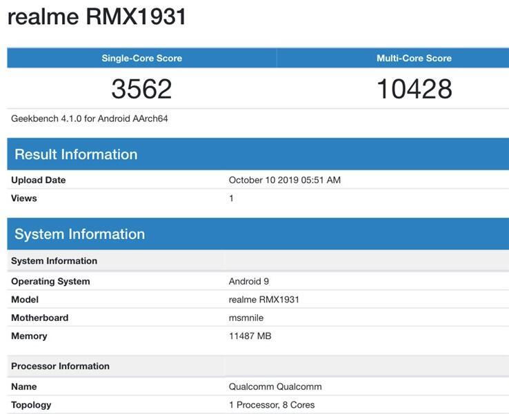 realmeX2Pro出现在Geekbench:提供12GB版本_资源共享_场地出租-蚂蚜网(兼职|接单|私活|外包)