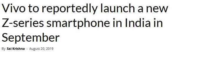 vivo将于印度上架新款Z系列手机_销售运营_媒体营销-蚂蚜网(兼职|接单|私活|外包)