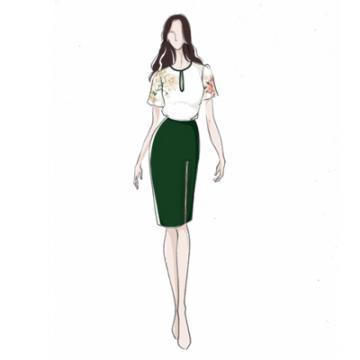 女装 日常装 成衣 欧美风格 设计效果图 款式图绘制【快递派送】