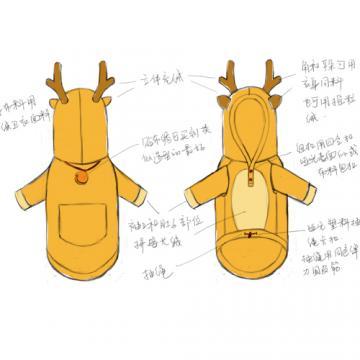 宠物狗狗时装创意服装毛衣日常装设计【牧羊人服饰设计工作室|快递派送】
