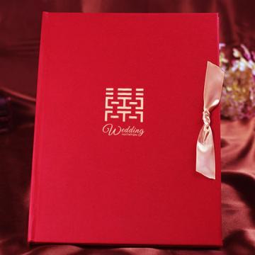 婚庆用品签到本婚礼创意礼金本礼单嘉宾礼簿结婚签名册中式记账本【小乔印象设计联盟|快递派送】