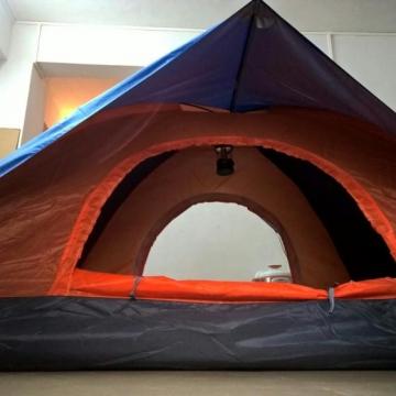 一套全新3至4人双层双门露营帐篷转手【51度的深蓝|快递派送】