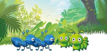 蚂蚜和蚜虫的服务共享文化