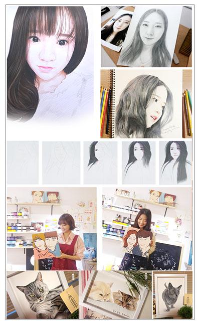 【达子工作室】素描画像彩铅画纯手绘照片真人代画定制 人物 头像人像肖像木刻画_技能专长>>图形动画>>动画设计
