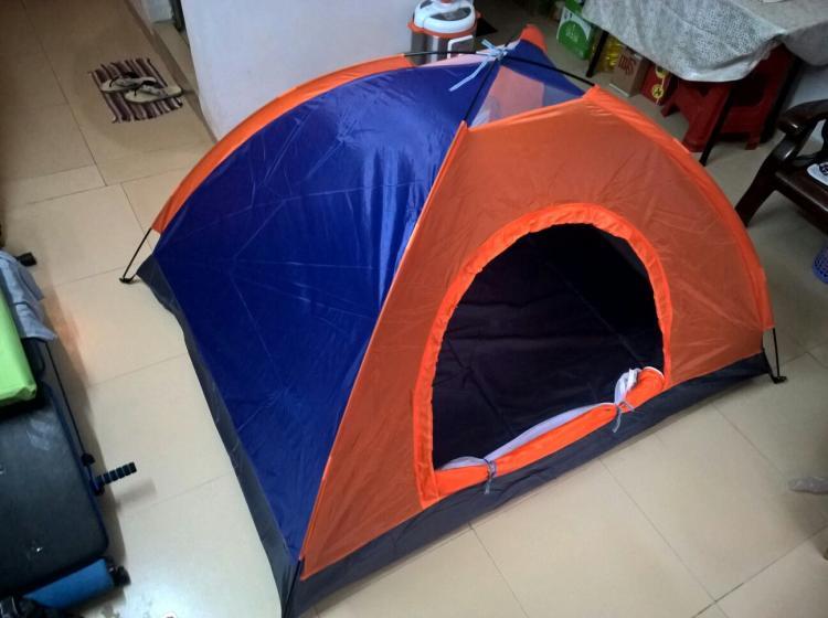 【51度的深蓝】一套全新3至4人双层双门露营帐篷转手_二手市场>>户外运动>>户外装备